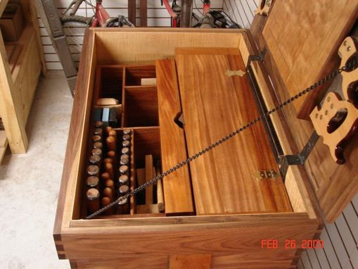Hand Made Walnut Tool Chest By Codner S Custom Creations