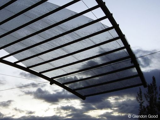 Custom Made Canopy With Glass And Aluminum