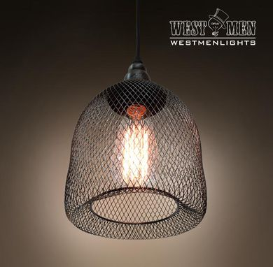 Custom Made Westmenlights Metal Mesh Pendant Light Ceiling Lamp Decorative Handmake Mid Century