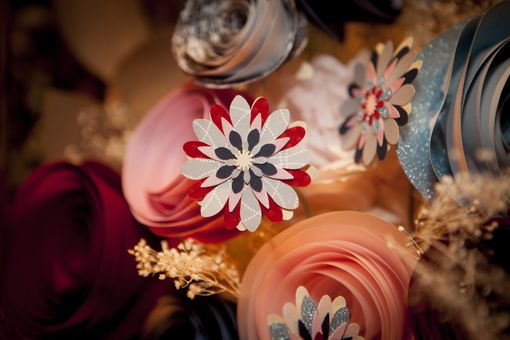 Custom Made Wedding Bouquet Of Paper Flowers