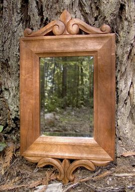 Custom Made Hand-Carved Mirror