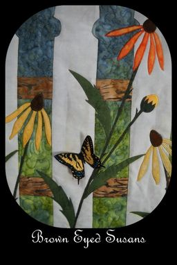 Custom Made Brown Eyed Susans Quilted Wall Hanging
