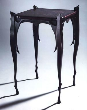 Custom Made Black Cherry Lamp Table