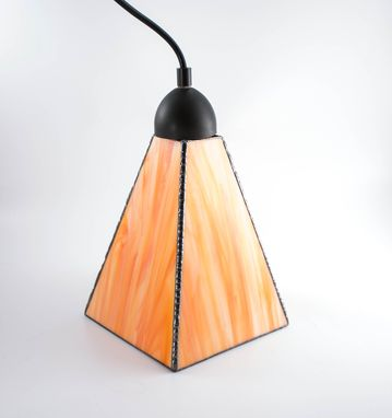 Custom Made Custom Streaky Art Glass Pendant Lights - Choice Of Colors