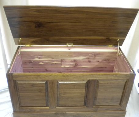 Custom Made Walnut Hope Chest Cedar Lined