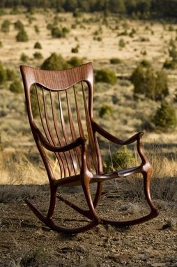 Custom Made Bubinga Shangrila Ii Rocking Chair