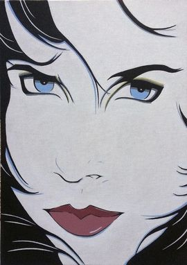"Custom Made ""Honey"" Original Nagel Style Pop Art Acrylic"