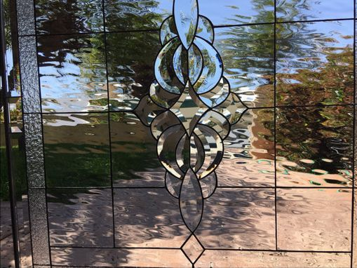 Custom Made Classic Stunning Clear Beveled & Waterglass Stained Glass Window