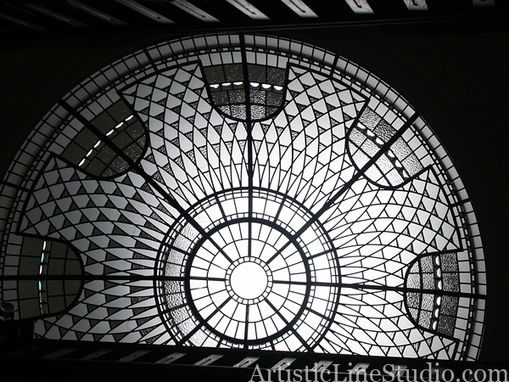 Custom Made Leaded Glass Dome Skylight