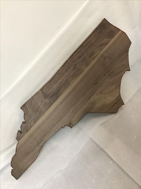 Custom Made State Of North Carolina Nc Shaped Cutting Board Any Size You Need