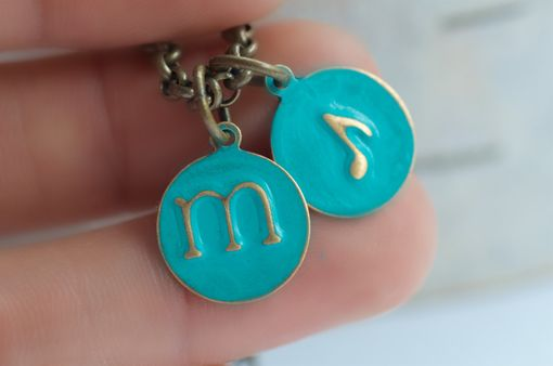 Custom Made Music Initial Necklace