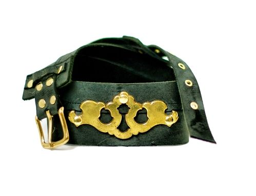 Custom Made Juliet Keyplate Leather Belt