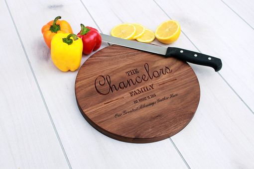 Custom Made Personalized Cutting Board, Engraved Cutting Board, Custom Wedding Gift – Cbr-Wal-Chancelors