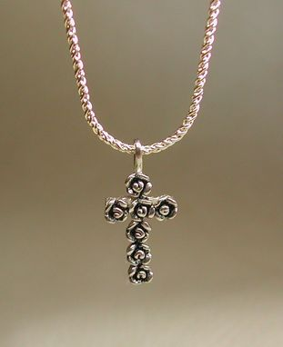 Custom Made Rose Cross Necklace