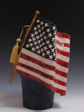 Custom Made American Flag Cremation Urn
