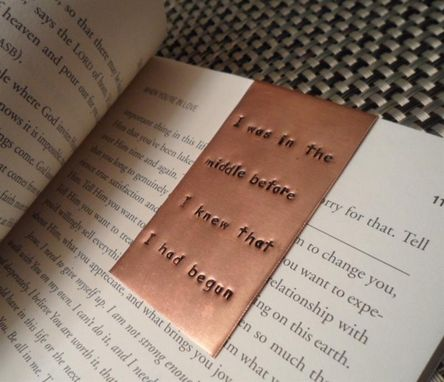 Custom Made Hand Stamped Bookmarks - Medium