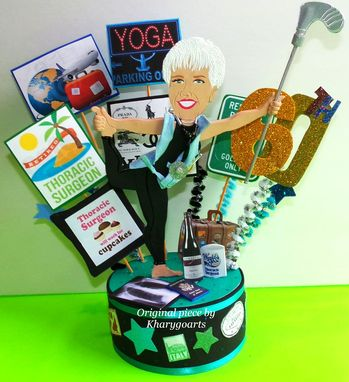 Custom Made Doctor Retirement Birthday Cake Topper