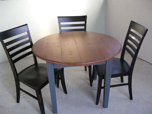 Custom Made Small Round Kitchen Dining Table With Pedestal Base