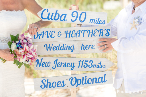 Custom Made Rustic Chic Wedding Directional Sign, Beach Wedding Decor, Shoes Optional Sign