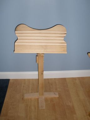 Custom Made Wooden Music Stand