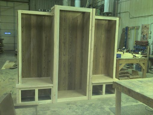 Custom Made Custom Barn Wood Entrance Way Cabinet