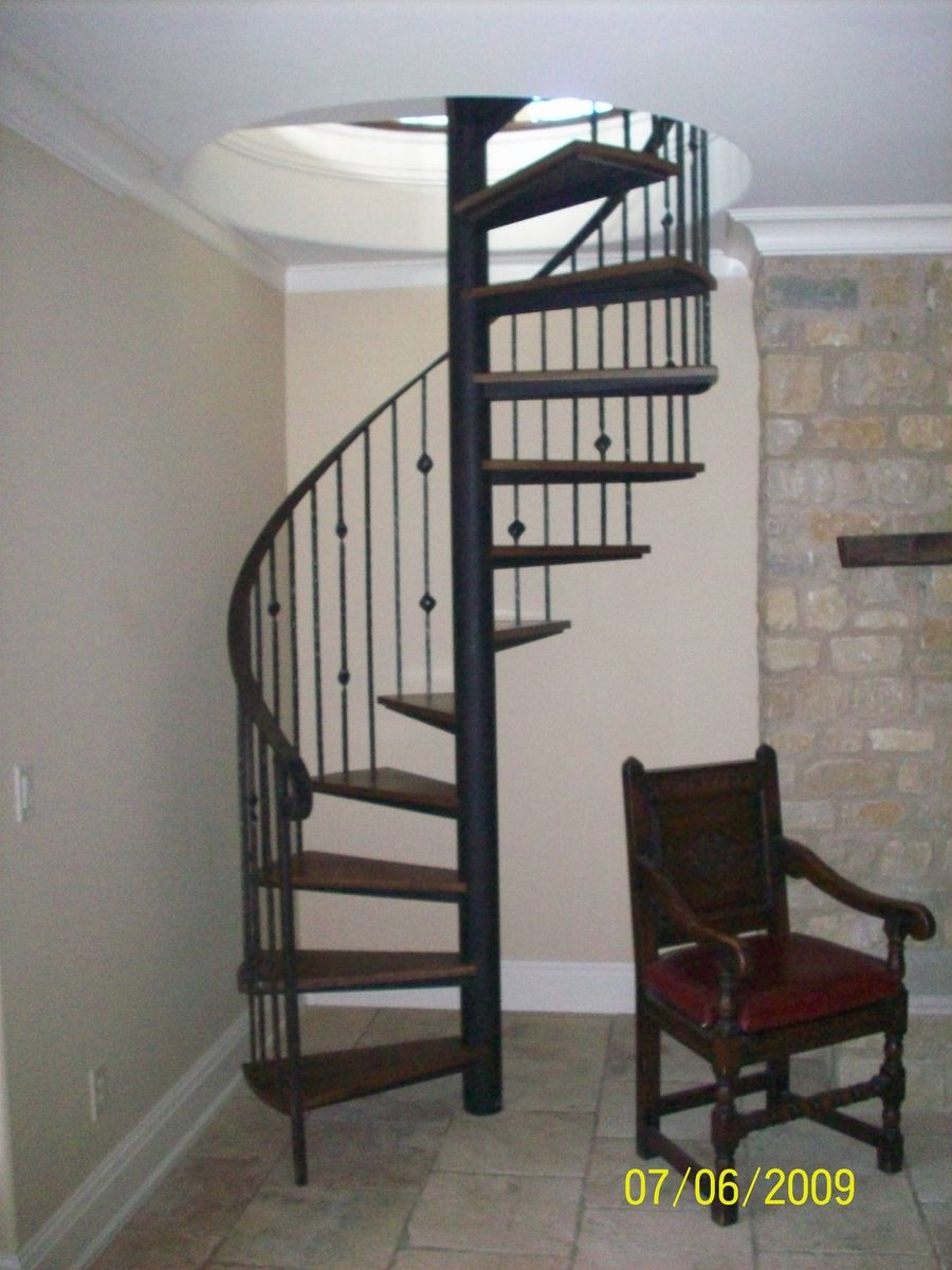 Hand crafted spiral stair by the forge at cedar hill for Custom stair