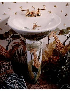 Custom Made Jungle Pedestal Sink