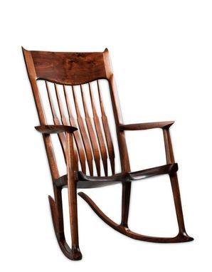 Custom Made Walnut Maloof Inspired Rocking Chair