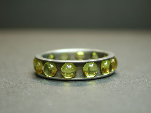 Custom Made Titanium Ring With Yellow Sapphires