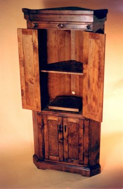 "Custom Made ""Avon Calling"" - Alder Corner Cabinet, Media Center"