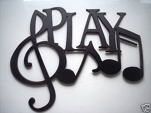 Custom Made Play Word With Notes Metal Wall Art Music Decor