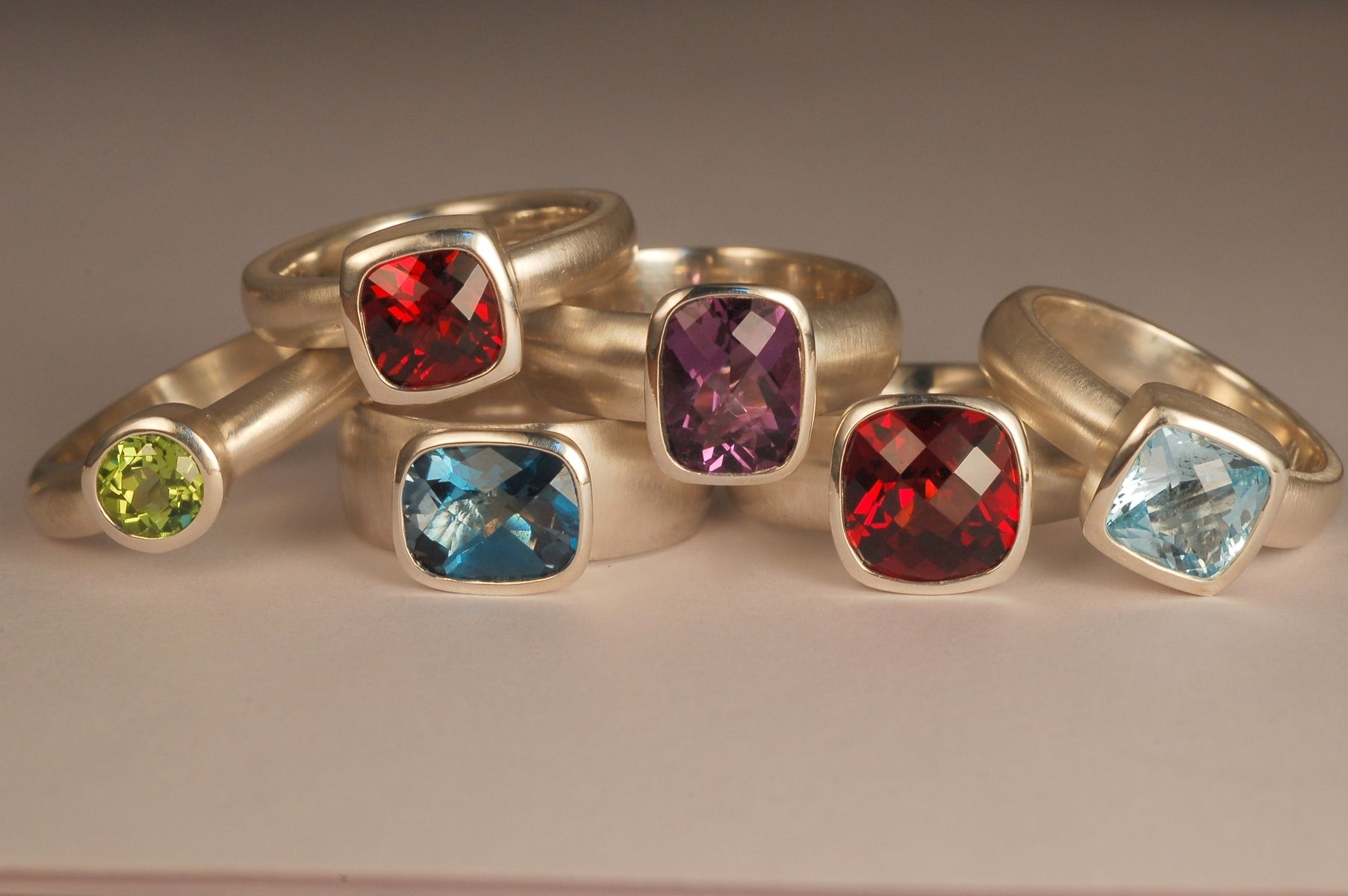 Handmade Coloured Stone Rings By Andrea Mueller Fine