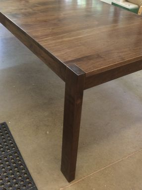 Custom Made Walnut Dining Table With Through Legs