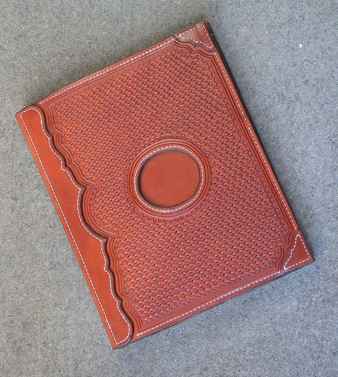 Hand Made Scrapbook Cover By Foulgers Custom Leather Saddlery
