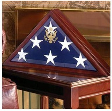Custom Made Coffin Flag Cases- Coffin Flag Box