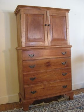 Custom Made 18th Century Inspired Cherry Entertainment Center