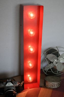 Custom Made Vintage Inspired Marquee Light- Letter I