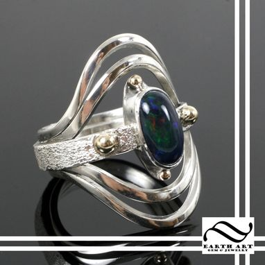 Custom Made Black Opal Galaxy Ring
