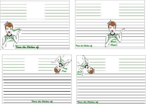Custom Made Custom Personalized Recipe Cards- For Any Occassion Any Style- Set Of 50 Listing Stats