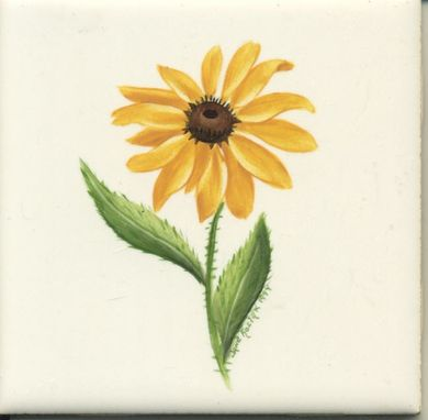 Custom Made 4x4 Blackeyed Susan Tile