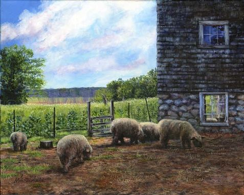 Custom Made Custom Farm Paintings In Acrylic