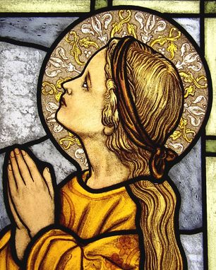 Custom Made Young Mary Stained Glass
