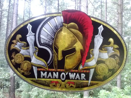 Custom Made Man Of War Cigar Logo Man Cave Stained Glass