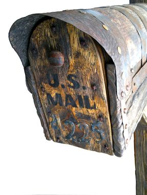 Custom Made Rustic Mailbox With Post
