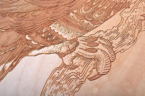 Custom Made Skateboard Deck With Laser Engraved Owl
