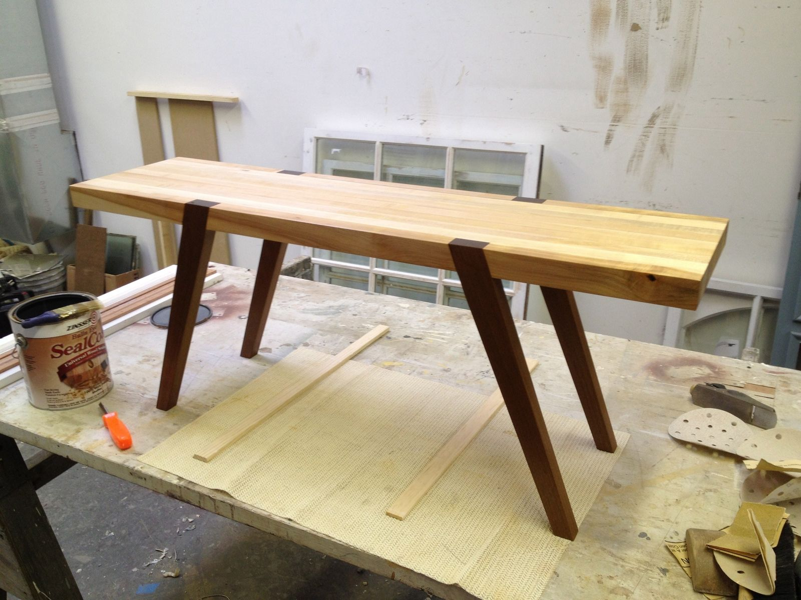 Butcher Block Kitchen Tables Custom Butcher Block Coffee Table By D Geoffrey Patterson