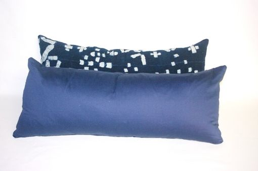 Custom Made 20th Century African Shawl Indigo Dyed - Rare Vintage Textile Pillow Cover