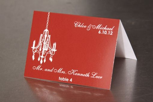 Custom Made Chandelier Place Cards - Escort Cards