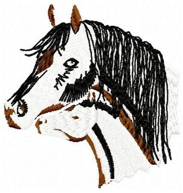 Custom Made Arabian Horse Embroidery Design