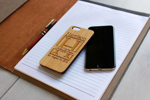 Custom Made Custom Engraved Wooden Iphone 6 Case --Ip6-Bam-Anthony & Desiree